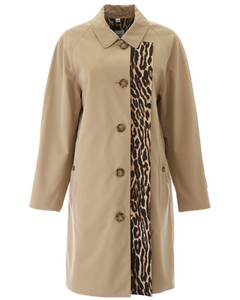 RAINCOAT WITH LEOPARD PRINT LINING