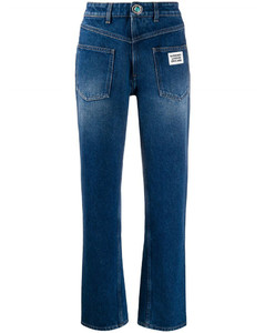 Back-to-front straight-leg jeans
