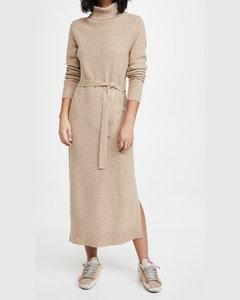 Cotton Gabardine Long Dress