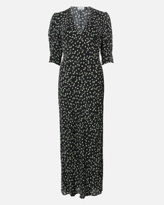 Women's Zadie Midi Dress - Ditsy Floral - Black Cream