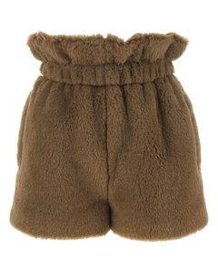 Leopard-printed silk minidress