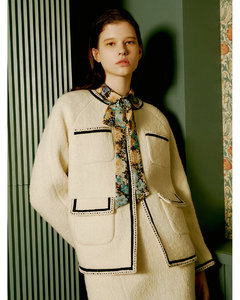 [Premium] Trimmed Winter Tweed Jacket_2color