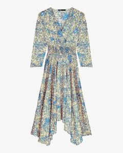 Army green silk gown