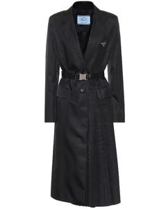 Belted nylon coat