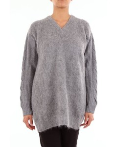 Knitwear Crewneck Women Grey