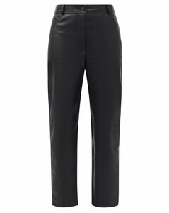 Hailey straight-leg faux-leather trousers