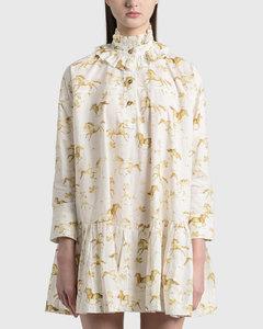 Printed Cotton Poplin Oversized Dress