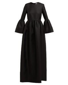 Lora silk-twill gown