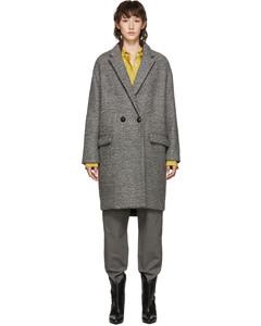 灰色Filipo羊毛大衣