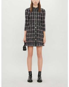 Tweed cotton-blend mini dress