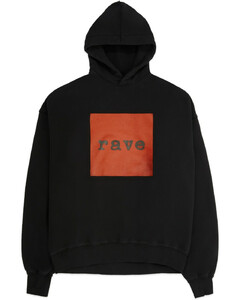 Rave Hoodie - Washed Black