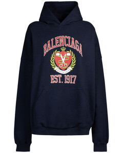 Wide Fit Cotton Jersey Hoodie