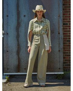 格纹羊毛衬衫式连衣裙