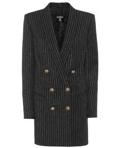 Wool-blend blazer minidress
