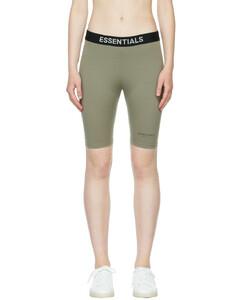 灰色徽标运动短裤