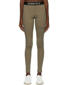 黄褐色Thermal运动裤