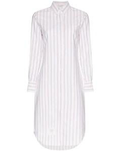 條紋襯衫裙