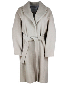 Dressing gown coat in Pine nut color