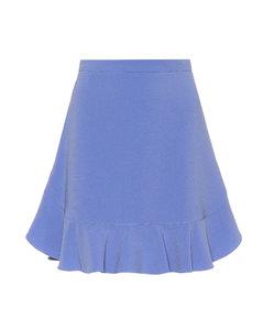 Flounce flared cady skirt