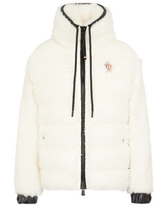 Faux shearling quilted jacket