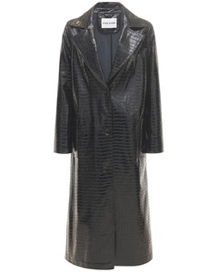 Mollie Faux Leather Trench Coat