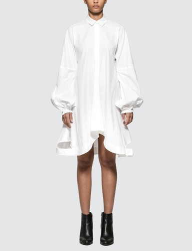 Buttondown Puff Sleeve Dress