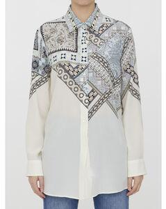 印花中长半身裙