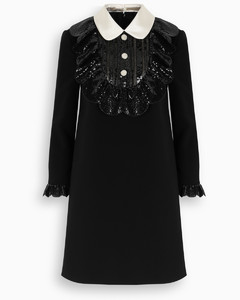 Embellished faille cady dress