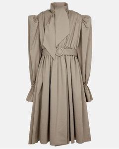 棉质华达呢风衣式连衣裙