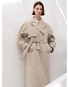 Cotton Blend Trench Coat_Beige