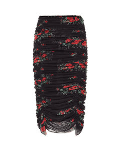 Mytheresa发售 — 花卉网布中长半身裙