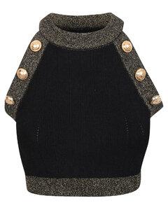 Bergara scoop-neck leather top