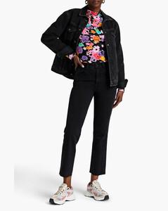 Logo-patch cotton-blend T-shirt dress