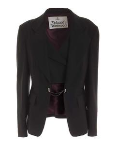 Waistcoat jacket in black