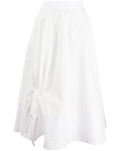 系带细节伞形半身裙