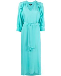 系腰带衬衫裙