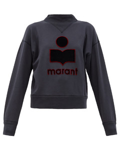 Moby embroidered-logo cotton-blend sweatshirt