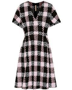 Stretch cotton-blend dress