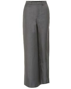 High-rise wool-blend skirt