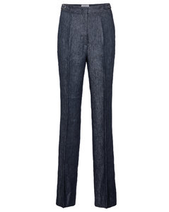 Vesta高腰直筒亚麻裤装