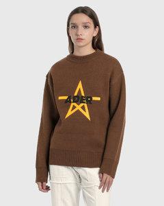 Star Logo Oversized Knitted Sweater
