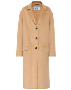 Angora and wool coat