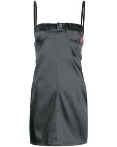 單肩垂墜連衣裙
