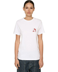Animals Printed Cotton Jersey T-shirt