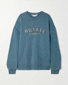 Net Sustain Sunday Iris Oversized Appliquéd Organic Cotton-jersey Sweatshirt