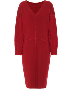Drop-shoulder knit dress