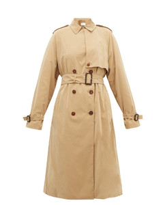 Triana double-breasted trench coat