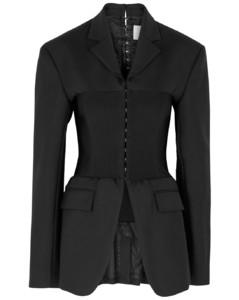 Tube black wool-blend blazer