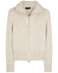 Dixon ecru wool-blend jumper