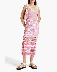 GREEN WATERCOLOUR COTTON POPLIN MAXI DRESS